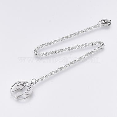 201 Stainless Steel Pendant Necklaces(NJEW-T009-JN136-40-1)-2