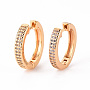 Clear Ring Brass Earrings(EJEW-Q703-001-NF)