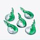 Handmade Silver Foil Glass Big Pendants(FOIL-C597-2)-1