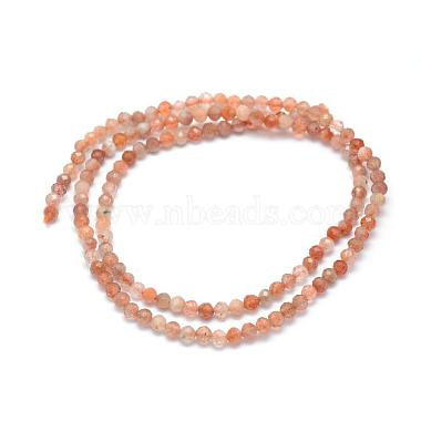 Natural Sunstone Beads Strands(G-E411-13A-2mm)-2