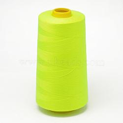 Fil à coudre 100% fibre de polyester filée, greenyellow, 0.1 mm; environ 5000 mètres / rouleau(OCOR-O004-A57)