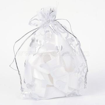 White Rectangle Organza Bags