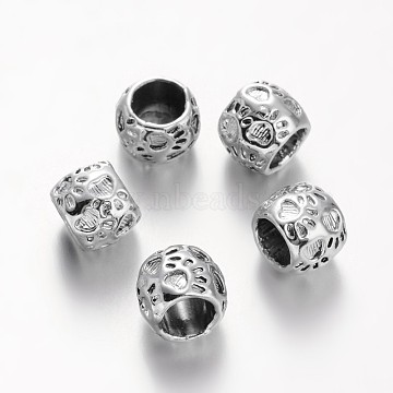 Silver Rondelle Alloy Beads