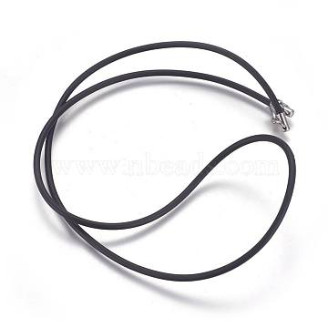 2.5mm Black Rubber Necklace Making