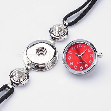 Латунный браслет с часами(BJEW-JB02667)-3