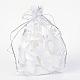 Heart Printed Organza Bags(OP-R022-10x15-03)-1