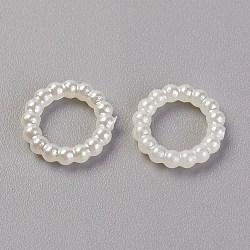 Cabochons en plastique ABS d'imitation nacre, teint, anneau, beige, 10x2mm(X-MACR-F034-10mm-22)