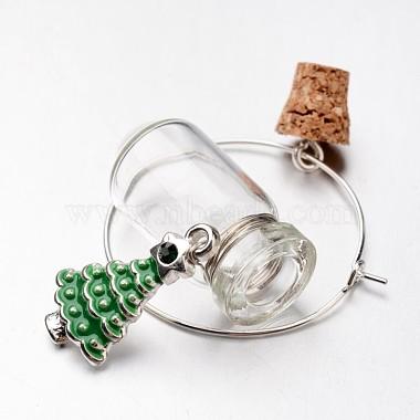 verre souhaitant charmes de verre de vin de la bouteille(X-AJEW-JO00134)-3