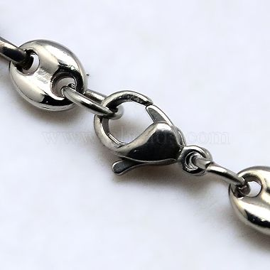 Fashionable 304 Stainless Steel Coffee Bean Chain Necklaces(NJEW-I008-34C)-3