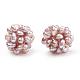 Handmade Natural Pearl Woven Beads(WOVE-S116-02)-2