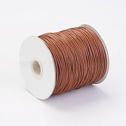 воском хлопчатобумажная нить шнуры, saddlebrown, 1.5 мм; около 100 ярдов / рулон (300 футов / рулон)