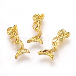 Cabochons en alliage, accessoires nail art de décoration, sirène, or, 13x5mm(MRMJ-K009-65G)