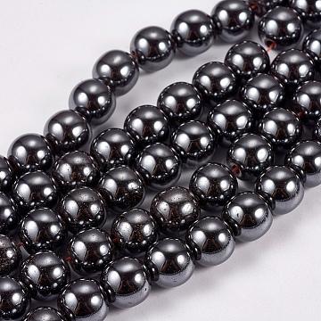 8mm Black Round Non-magnetic Hematite Beads
