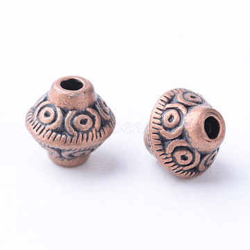 7mm Bicone Alloy Beads