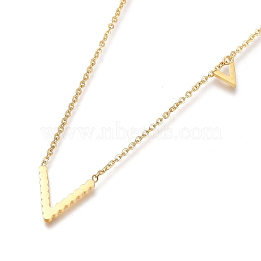 304 Stainless Steel Initial Pendant Necklaces(NJEW-I240-06)-3