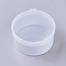 contenants de perles en plastique transparent, colonne, effacer, 5.4x2.75 cm; diamètre intérieur: 5.1 cm(CON-WH0069-36D)