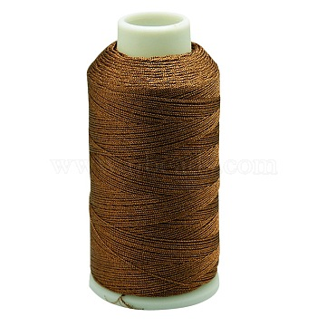 Metallic Cord, 3-Ply, Chocolate, 0.4mm, about 1093.61 yards(1000m)/roll(MCOR-G001-0.4mm-08)