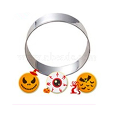 304 Stainless Steel Cookie Cutters, Cookies Moulds, DIY Biscuit Baking Tool, Ring, Stainless Steel Color, 65x17mm(DIY-E012-39)