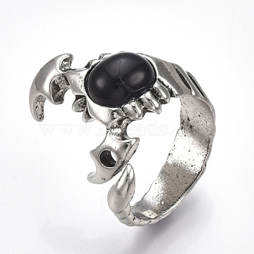 Black Alloy Finger Rings