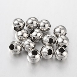 Platinum Iron Round Spacer Beads, 8mm, hole: 3mm(X-E188Y)