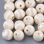 17mm Beige Round Polyester Beads(X-WOVE-T007-16mm-18)