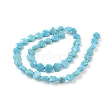9mm SkyBlue Triangle Howlite Beads