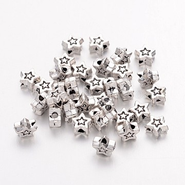 5mm Star Alloy Beads