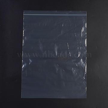 Plastic Zip Lock Bags, Resealable Packaging Bags, Top Seal, Self Seal Bag, Rectangle, White, 44x31.8cm; Unilateral Thickness: 0.055mm; Inner Measure: 31.7x41.9cm, 100pcs/bag(OPP-G001-F-29x40cm)