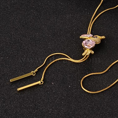PearlPink Rhinestone Necklaces