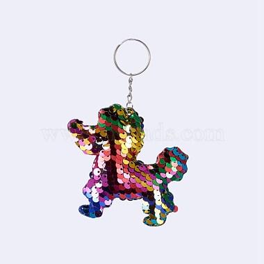 Colorful Dog Iron Key Chain
