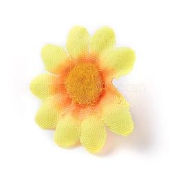 tournesol en tissu de soie, tête de fleur artificielle, pour la décoration de fête de mariage, or, 40x16~17 mm; diamètre intérieur: 2 mm(DIY-WH0134-A05)