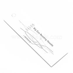 Iron Big Eye Beading Needles, Seed Bead Needle, for Jewelry Making, Platinum, 139x0.3mm(X-TOOL-N006-03)