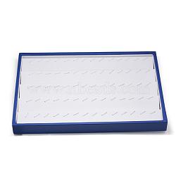 Présentoirs en plastique, rectangle, bleu royal, 35x24x3.2 cm(PDIS-Q011-02)