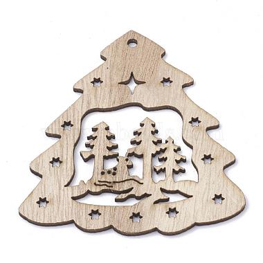79mm BurlyWood Tree Wood Pendants