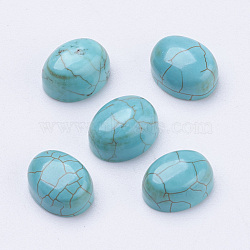 Cabochons turquoises, ovale, darkturquoise, 10x8x4mm(X-G-H1554-10x8x4)