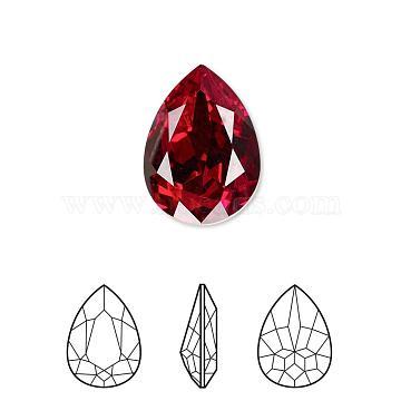 Austrian Crystal Rhinestone, 4320, Crystal Passions, Foil Back,  Faceted Pear Fancy Stone, 208_Siam, 8x6x3mm(4320-8x6mm-208(F))