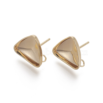 Real Gold Plated Stainless Steel Stud Earrings