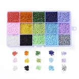 2mm Mixed Color Round Glass Beads(SEED-X0052-04-2mm)