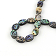 Oval Paua Shell Beads Strands(SSHEL-F290-40B)-2