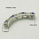 Alloy Rhinestone Tube Beads(RB-C1389-5P)-2
