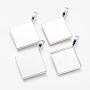 Silver Rhombus Alloy Pendants(X-PALLOY-D336-S-NR)