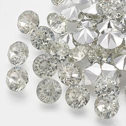 Strass en résine à pointe pointue de grade AAA, forme de diamant, clair, 5 mm; environ 2880 PCs / sac(RESI-R120-5.0mm-01)