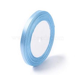 "Атласная лента для украшения венчания, lt.skyblue, 1/4"" (7 мм) шириной, 25yards / рулон (22.86 м / рулон)(X-RC012-104)"