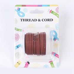 3x1.5mm Sienna Flat Faux Suede Cord, Faux Suede Lace, about 5m/roll(X-LW-R003-40)