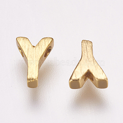 Breloques en laiton, letter.y, 6x4x2mm, Trou: 1mm(KK-P081-Y)