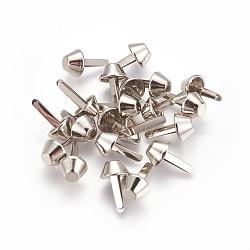 Колготки для кошельков, шип гвоздями брэд, платина, 17x10 мм(PALLOY-WH0053-03A)
