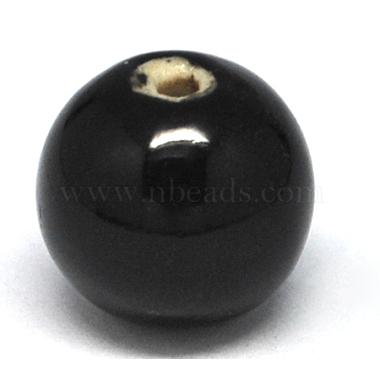 main fantaisie perles de porcelaine émaillée antiqued(X-PORC-R408-20mm-1)-1