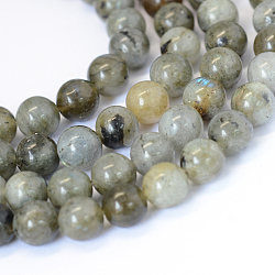 Natural Labradorite Round Bead Strands, 6~6.5mm, Hole: 1mm; about 63pcs/strand, 15.5inches(X-G-E334-6mm-19)