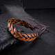 Adjustable Casual Unisex Braided Leather Bracelets(BJEW-BB15584)-2