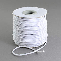Lady-Muck3: Elastic Cord about 27m//bundle about 1mm thick White